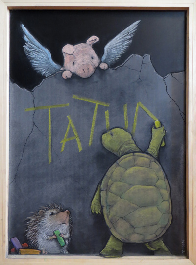 a chalkboard for tatum