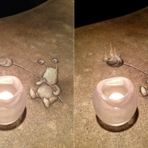 votive cookout before-after