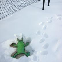 sluggo snow angel
