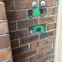 occupy brickwall