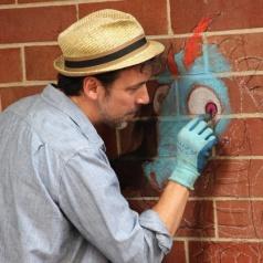 Driscoll Chalk Artist David Zinn 2/9/13